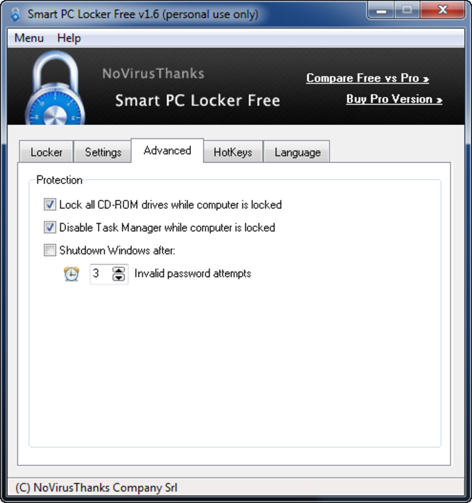 Smart PC Locker