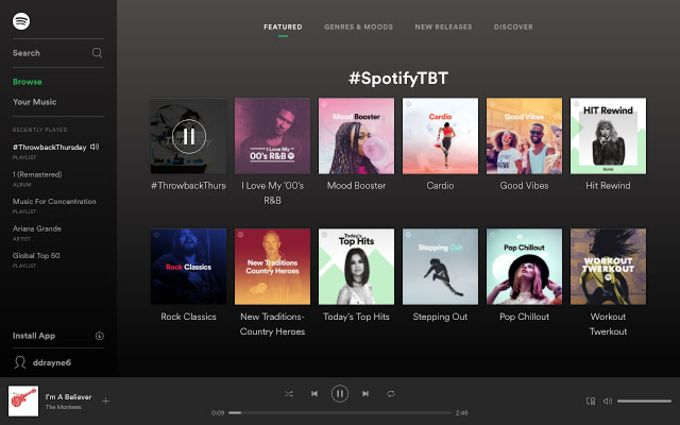 Spotify - Music for every moment