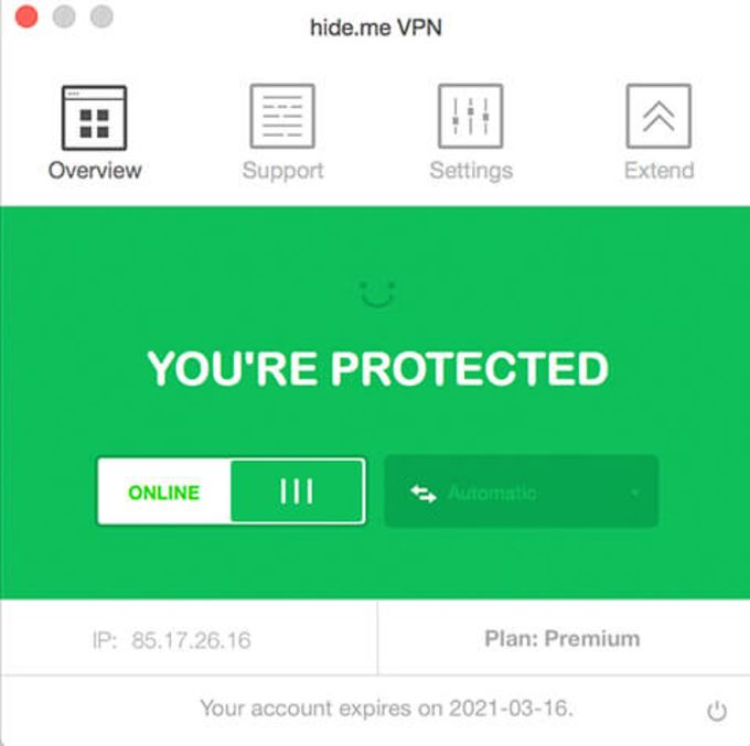 hide.me VPN for Mac OS X
