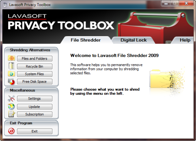 Lavasoft Privacy Toolbox