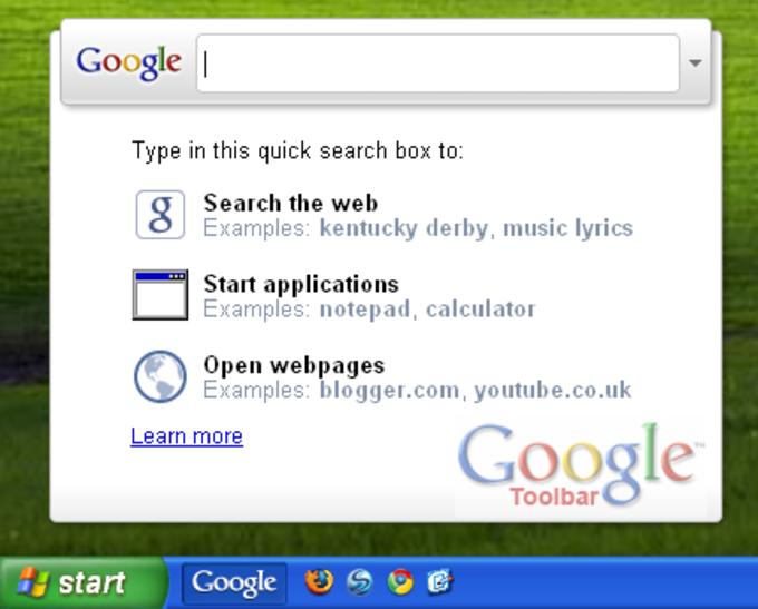 Google Toolbar IE