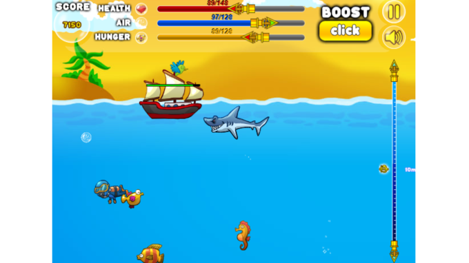 Hungry Angry Shark World