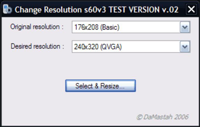 Change Resolution s60v3