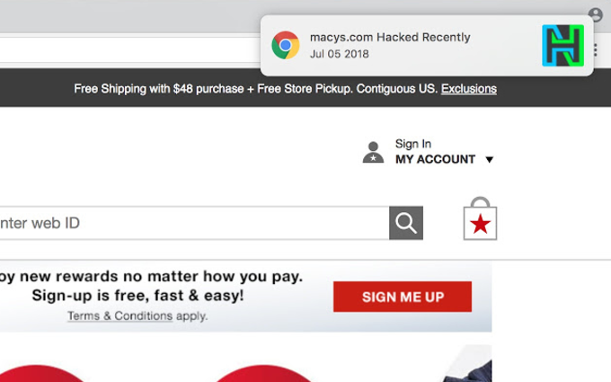 HackNotice for Chrome