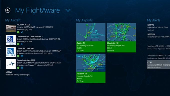 FlightAware for Windows 10