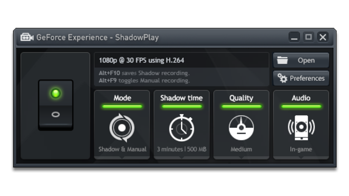 nvidia shadowplay not working in game