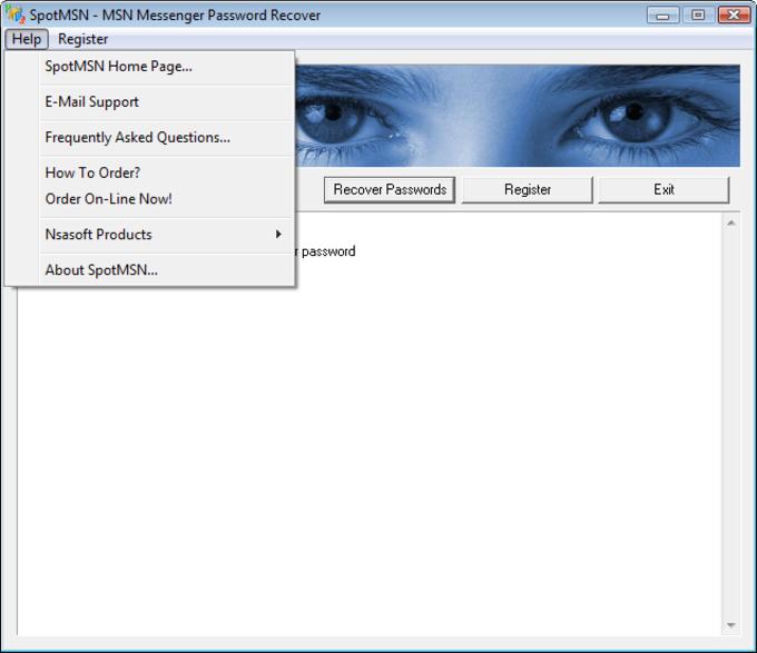 SpotMSN Password Recover - Download
