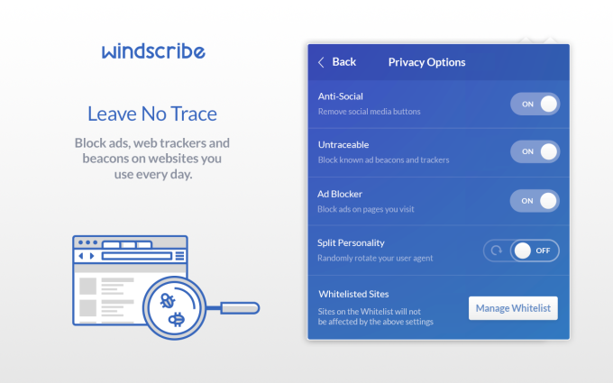 Windscribe Free VPN and Adblock For Chrome