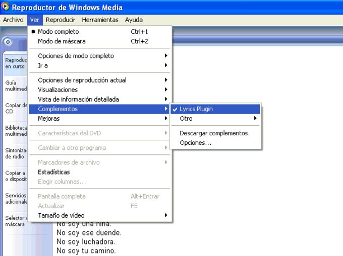 Lyrics Plugin pour Windows Media Player