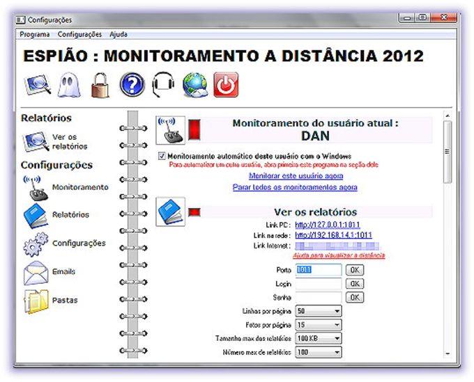Espião Monitoramento a Distância 2012