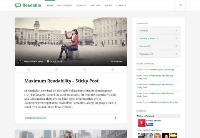 Readable WordPress Theme