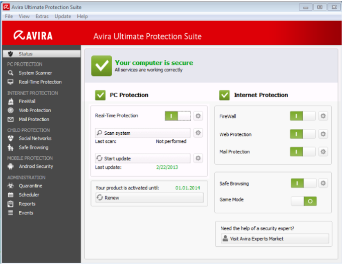 Avira Ultimate Protection Suite