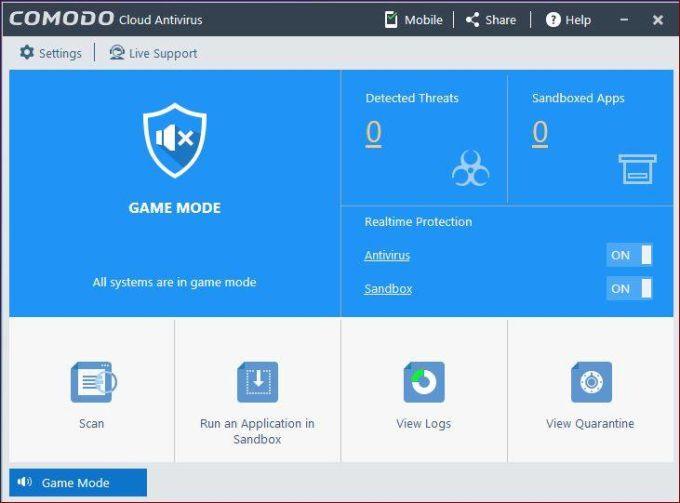 Comodo antivirus for Windows 10