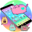 Cuteness Pusheen Cat Cartoon Theme