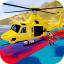 Superheroes Flying Helicopter Racing