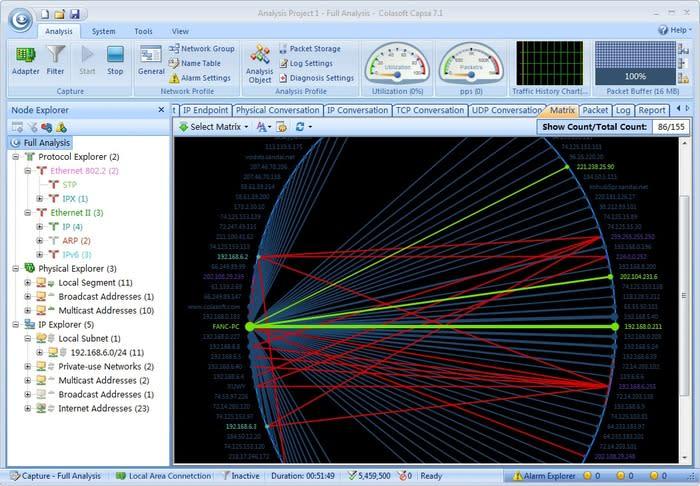 Colasoft Capsa Network Analyzer Free Edition