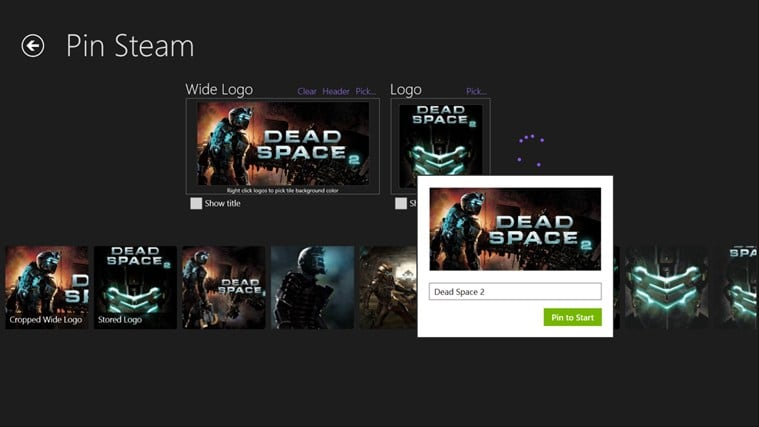 Pin Steam for Windows 10