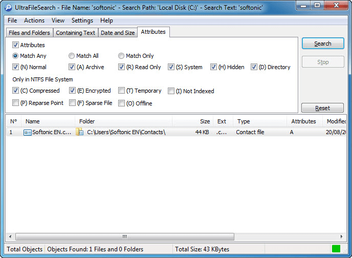 UltraFileSearch Lite