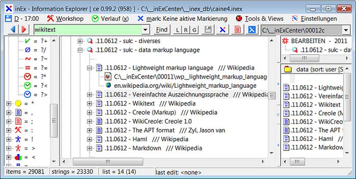 inEx information explorer