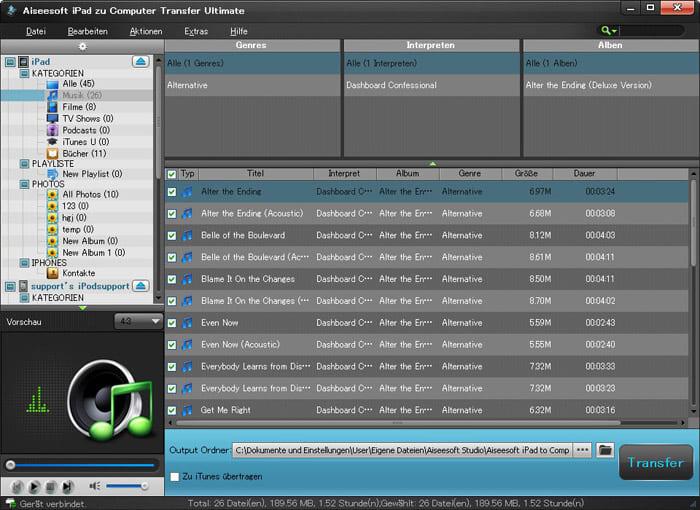 Aiseesoft iPad zu PC Transfer Ultimate