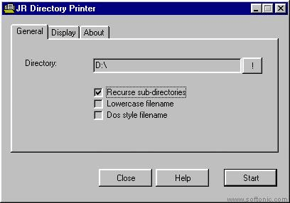 JR Directory Printer