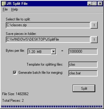 JR Split File