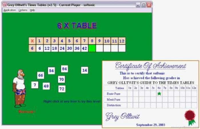 Grey Olltwit's Times Tables