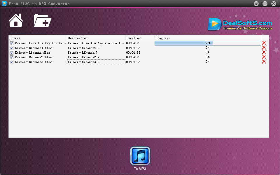 Dealsofts Free FLAC to MP3 Converter