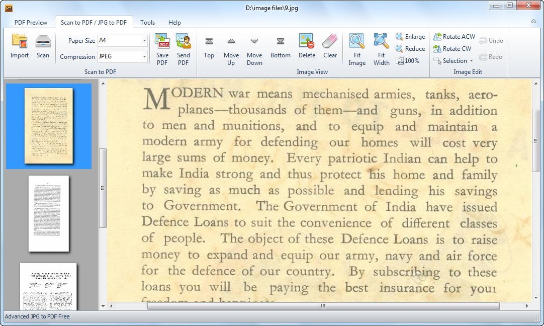 Advanced JPG to PDF Free