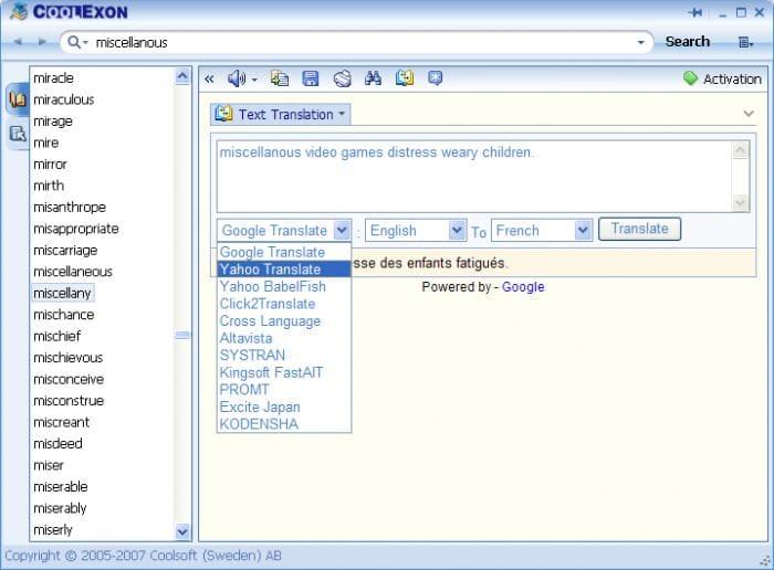 Coolexon Dictionary
