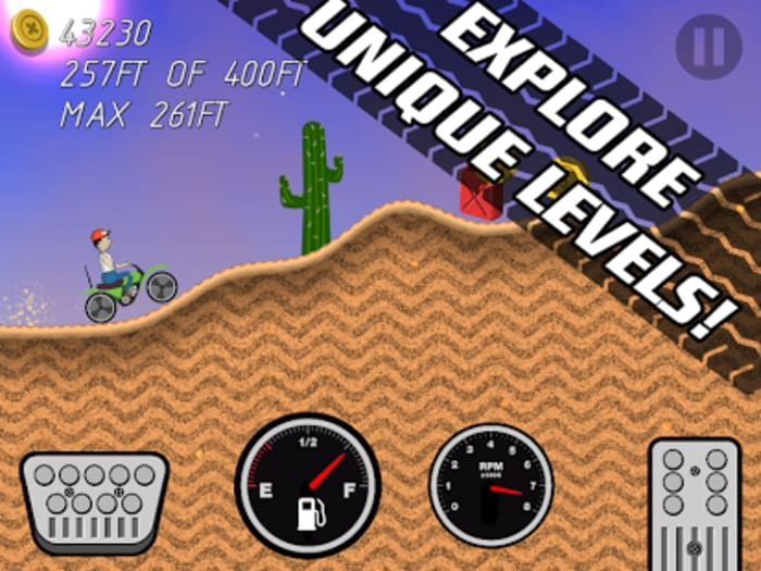 Road Rush Racing Up Hill Climb
