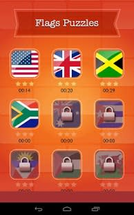 World Flags Quiz Slide Puzzle
