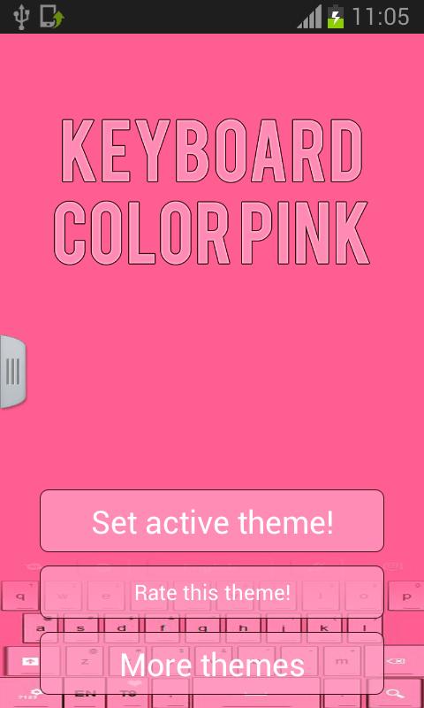Keyboard Color Pink