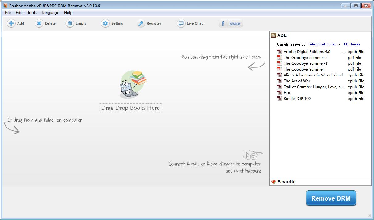 Adobe EPUB PDF DRM Removal