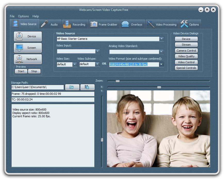 Webcam/Screen Video Capture Free
