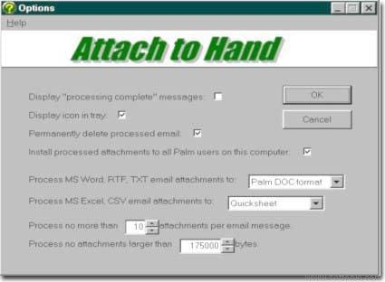 Attach to Hand for MS Outlook