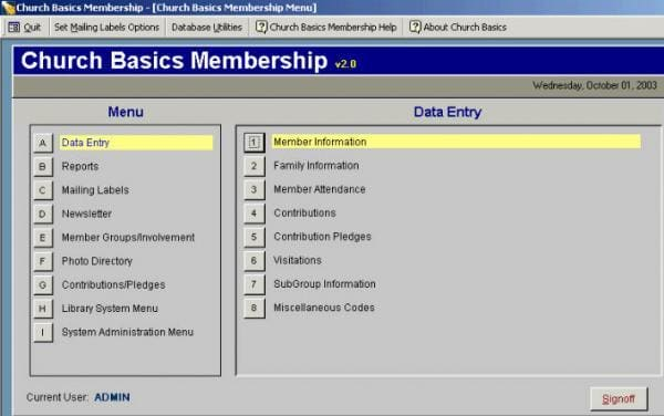 Church Basics Membership 2000