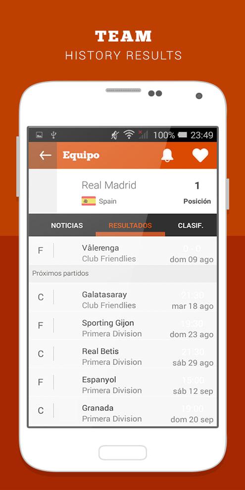 FootsApp resultados fútbol