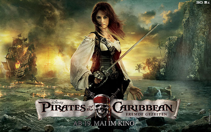 Pirates of the Caribbean - Fremde Gezeiten Wallpaper Angelica