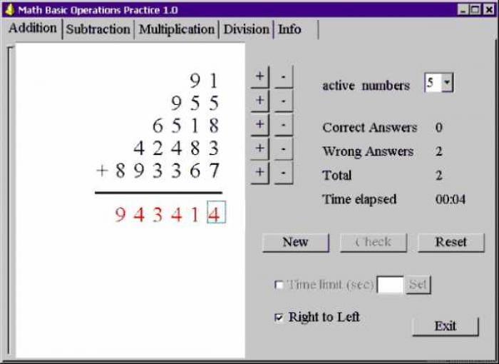 Math Basic Operations