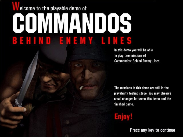 how to download commandos behind enemy lines
