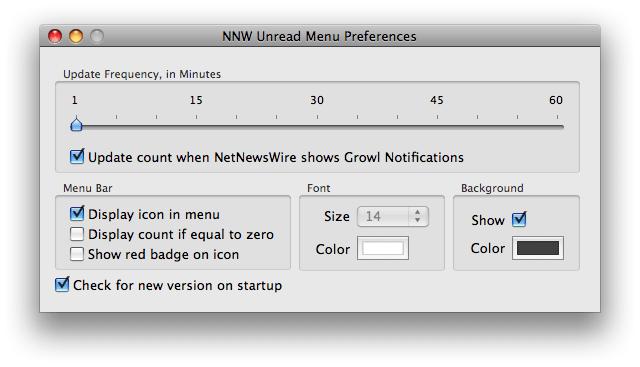 NNW Unread Menu