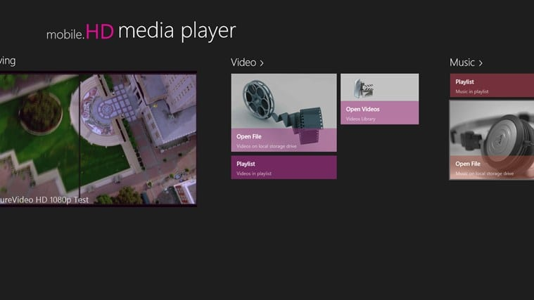 mobile.HD Media Player for Windows 10