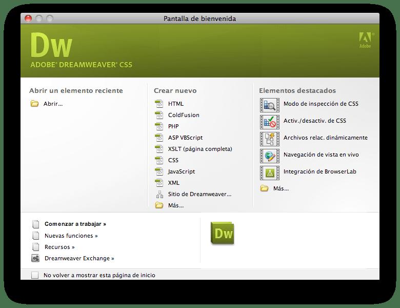 descargar dreamweaver cs5 para mac