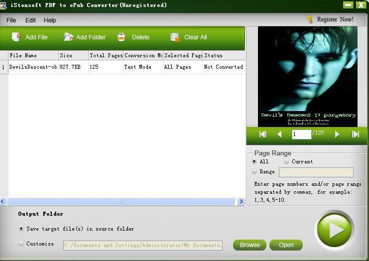 iStonsoft PDF to ePub Converter