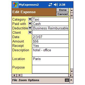 PApp Expense