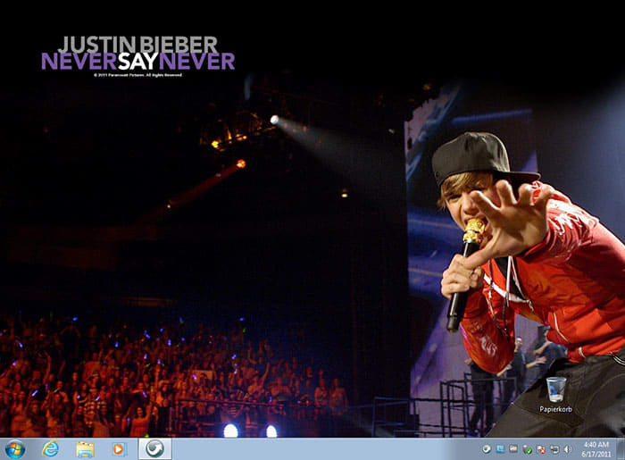 Tema Justin Bieber: Never Say Never