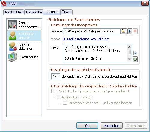 KishKish SAM - Answering Machine for Skype