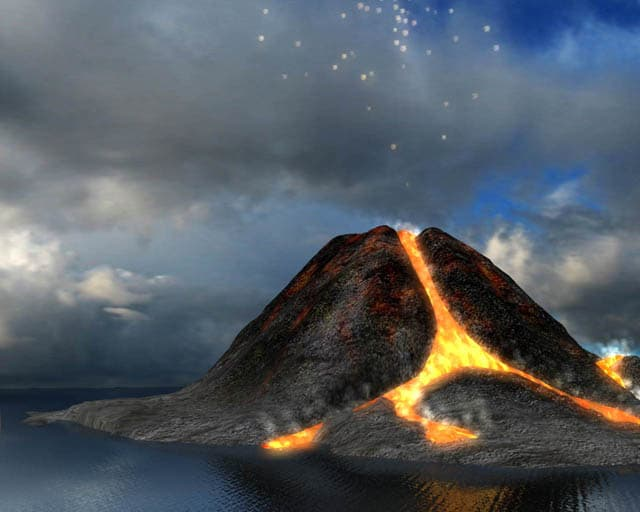 Active Volcano 3D Screensaver
