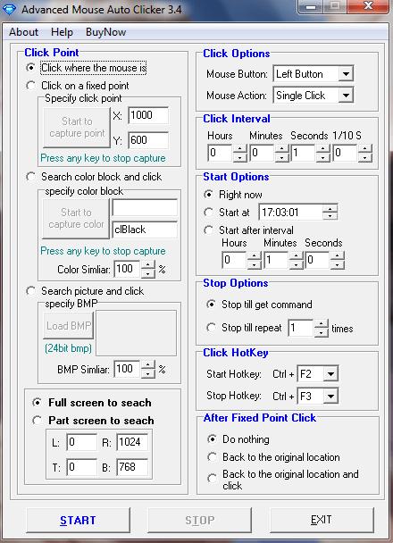 Advanced Mouse Auto Clicker